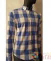 Рубашка мужская в бело-синию клетку